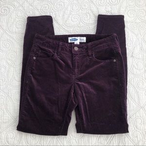 Old Navy Super Skinny Purple Velvet Rockstar Pants